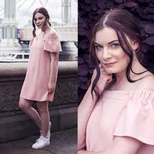 selina k topshop pink off the shoulder dress nike white air
