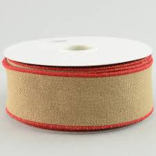 2 5 faux burlap ribbon with trim 25 yards