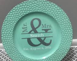 personalized wedding plate custom charger plate etsy