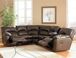 Eli Cocoa Reclining Sofa Kellum Chocolate Reclining Leather Sectional With Console By