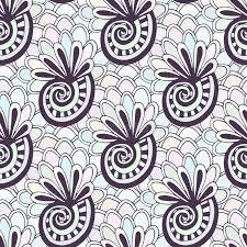 doodling seamless pattern seashells zentangle coloring