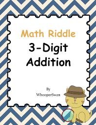 digit math math riddle 3 digit addition by bios444 teaching resources tes