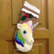 pattern unicorn christmas stocking crochet pattern pdf by