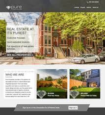 estate company website design pure properties