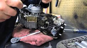110cc pit bike engine teardown pt1 youtube