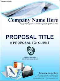 free proposal template free word templates