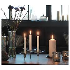 Ikea Stockholm Chandelier Stockholm Candlestick For 3 Candles Stainless Steel Ikea