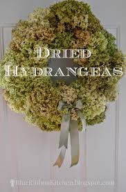dried hydrangeas blue ribbon kitchen dried hydrangeas wreath centerpiece