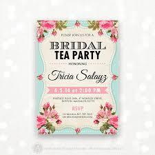 templates free printable tea party bridal shower invitation