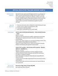Sample Resume For Special Education Teacher by Special Ed Teacher Resume Free Resume Example And Writing Download