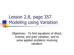 1 4 direct variation and proportion ppt video online download
