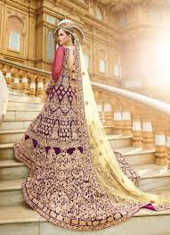 bridal gowns online buy indian bridal wedding gown online dubai purple ethnic indian