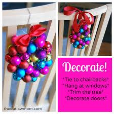 creative christmas countdown mini bauble ornament wreaths the