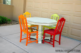 Colored Dining Room Chairs Dining Room Table Transformation All Things Thrifty