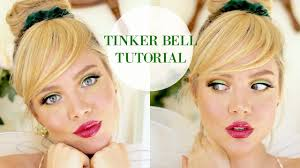 tinkerbell hairstyle tinker bell tutorial faux bangs youtube