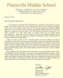 Recommendation Letter Sample For Student Elementary Letter Of Recommendation For Middle Student Sample Letter