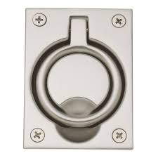 Baldwin Door Handle Baldwin 0395150 Flush Ring Pull Satin Nickel Pocket Door