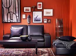red orange and black living room gallery living room pinterest