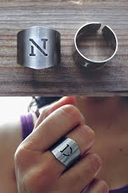 monogram initial ring personalized ring monogrammed initial ring monogram ring
