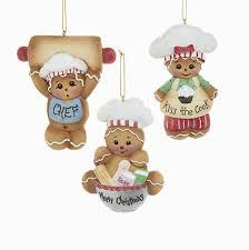 gingerbread chef ornaments 3 assorted kurt s adler