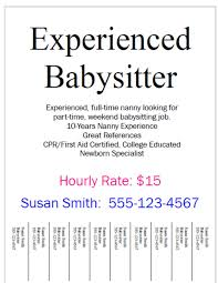 Casual Job Resume by How To Be The Best Nanny Finding A Part Time Babysitting Job For