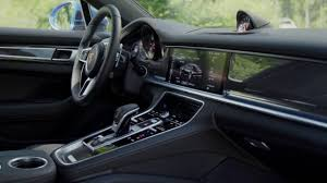 porsche panamera interior porsche panamera 4s interior design in blue dreamcars channel