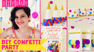 diy confetti party invite decor party hat favour bags