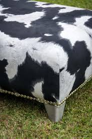 Cowhide Chair Australia Cowhide Fabric Ottoman Fake Cow Skin Furniture Australia