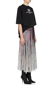 knee length skirt balenciaga sheer mesh knee length skirt barneys new york