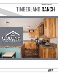 Colony Homes Floor Plans by Colony Homes Timberland Ranch 2017 By The Commodore Corporation