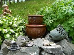 diy garden fountain inspire home design