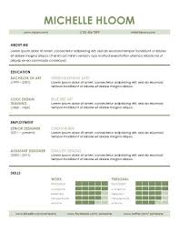 Modern Word Resume Templates Modern Resume Examples Modern Microsoft Word Resume Template