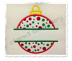 split applique ornament silhouette machine embroidery design