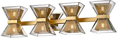 Gold Bathroom Vanity Lights Troy B5804 Expression Modern Gold Leaf Led 4 Light Bathroom Vanity