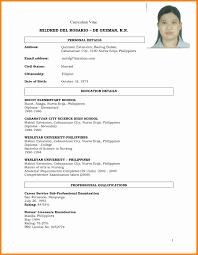 best curriculum vitae pdf sample resume for job seekers entry level resume example good