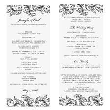 Wedding Ceremony Program Template Pictures On Non Religious Wedding Ceremony Outline Curated Quotes