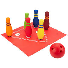 my first sports bowling kids active play set educational toys planet