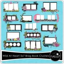 5x7 brag book pages brag books as you wish designs digital scrapbook