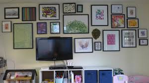 Hanging Artwork Lisa Moves Playroom Gallery Wall Around The Tv