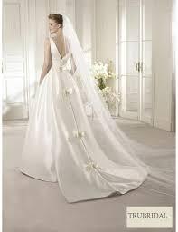 graceful ball gown l v neck strap taffeta court train wedding
