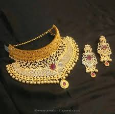 choker gold necklace images 1 gram gold choker from brundavan jewellery choker gold choker jpg