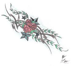 tribal rose tattoo design by alucardk09 on deviantart