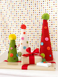 yarn and button holiday topiaries hgtv