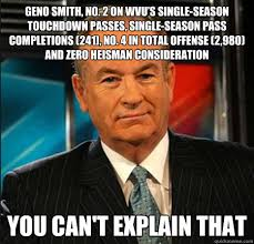 Geno Smith Meme - geno smith no 2 on wvu s single season touchdown passes single