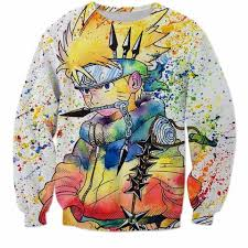 one punch man anime saitama lightning dark 3d cool sweatshirt