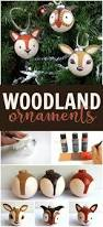 turn a plain round ornament into a cute woodland creature easily