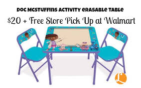 family dollar table and chair set holiday deals disney doc mcstuffins table set just 20 living