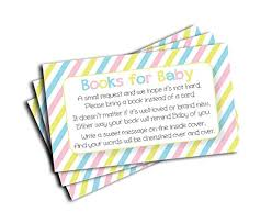 registry for baby shower baby shower book insert request cards 50 cards