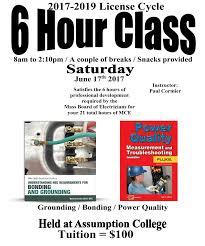 6 hours class online worcester electrician school