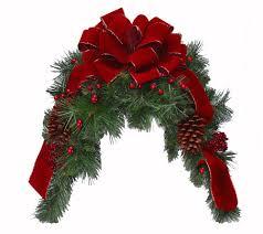 burgundy holiday mailbox swag christmas mailbox swag ch4762